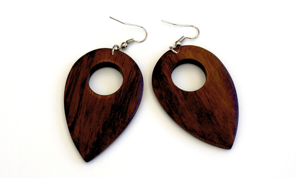 Yapen - Light Wood Earrings